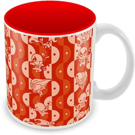 Marvel Kawaii Red Ceramic Mug