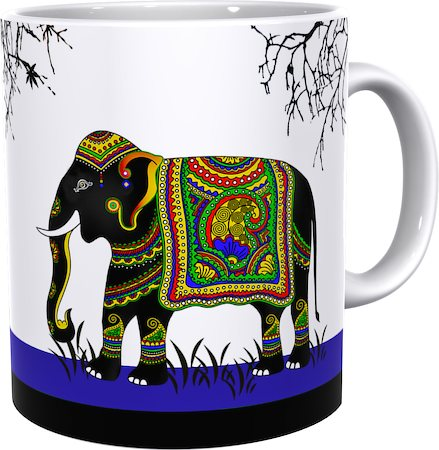 Kolorobia Sapphire Elephant Classic White Mug