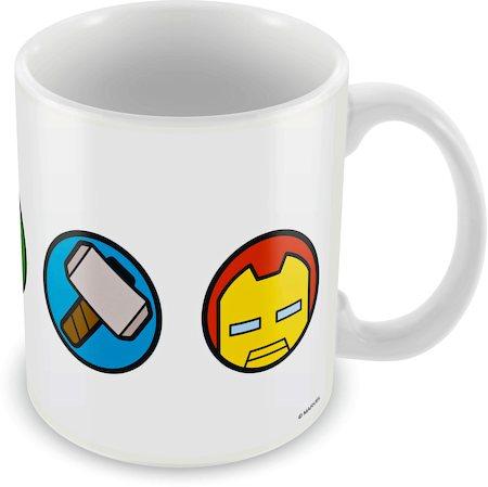 Marvel All Logos Kawaii Ceramic Mug