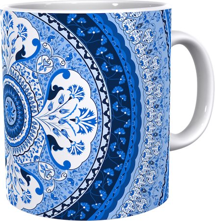 Kolorobia Stunning Turkish Blue Classic White Mug