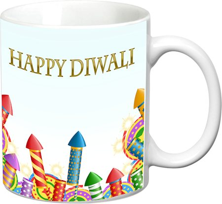 Prithish Diwali Design 7 White Mug
