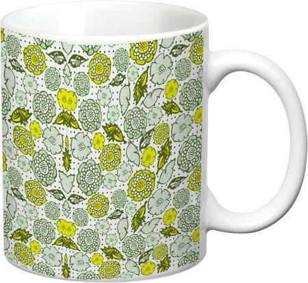 Prithish Floral Design 9 White Mug