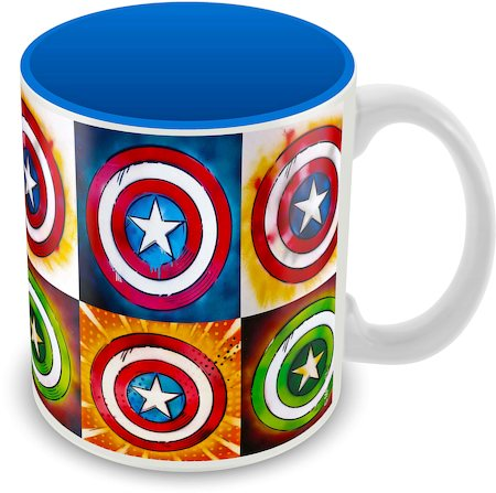 Marvel Captain America - 75 Years Star Ceramic Mug