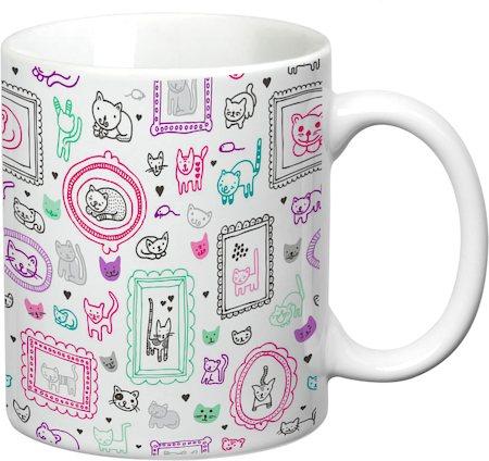 Prithish Cats Design 2 White Mug