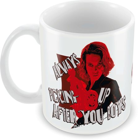 Marvel Black Widow - Always Picking Up Ceramic Mug