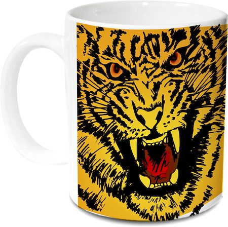 Hot Muggs Wild Focus Tiger Mug - Stand Up, Fight and Feel Damn Good
