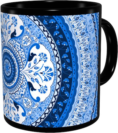 Kolorobia Turkish Blue Classic Black Mug
