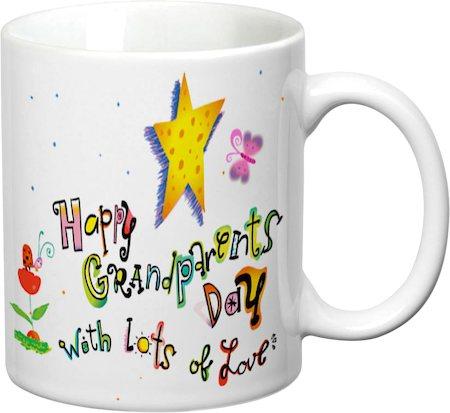 Prithish Happy Grandparents Day White Mug