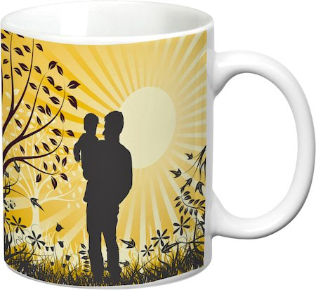 Prithish Father And Son White Mug