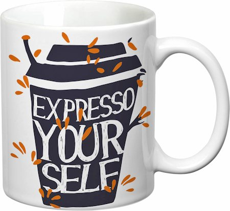 Prithish Expresso Your Self White Mug