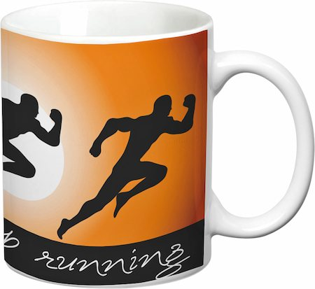 Prithish Never Stop Running White Mug