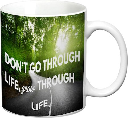 Prithish Grow Through Life White Mug