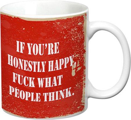 Prithish Honestly Happy White Mug