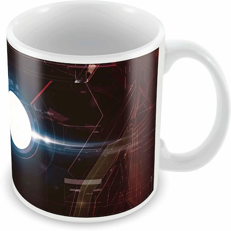 Marvel Iron Man Suit Ceramic Mug