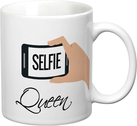Prithish Selfie Queen White Mug