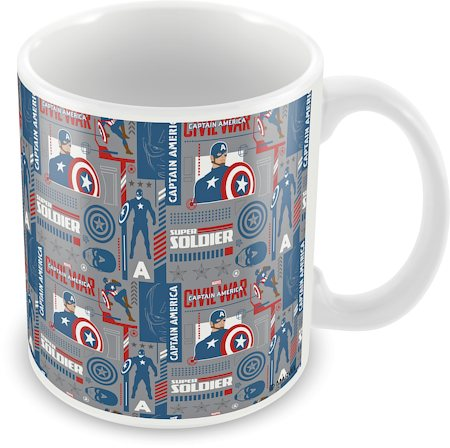 Marvel Civil War - Captain Soldier Ceramic Mug