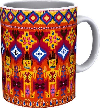 Kolorobia Tie N Die Ikat White Mug