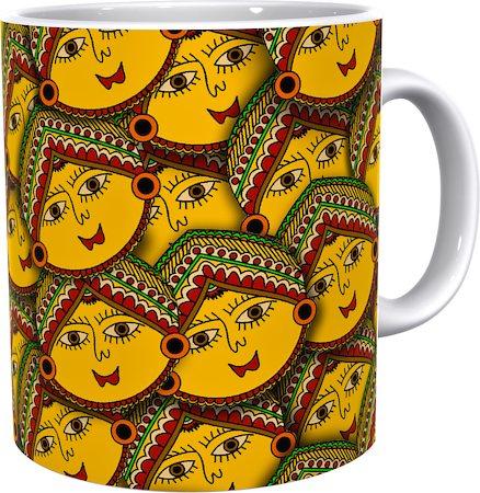 Kolorobia Striking Madhubani Classic White Mug