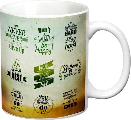 Prithish Motivational Design 1 White Mug