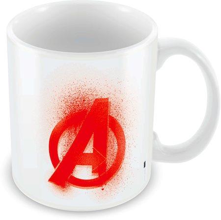 Marvel Avengers Logo Red Ceramic Mug