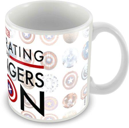 Marvel Captain America - 75 Years Classic Logo Ceramic Mug