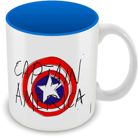 Marvel Captain America - Text Ceramic Mug