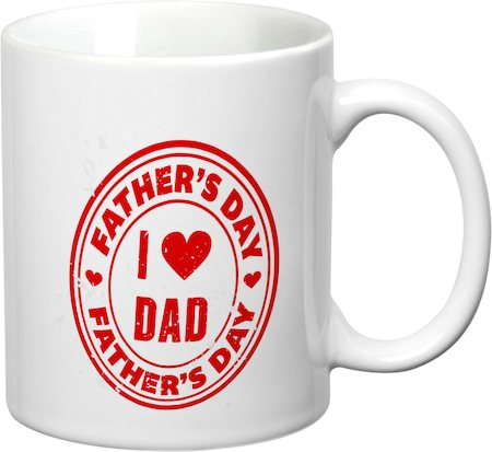 Prithish I Love Dad, Father's Day White Mug