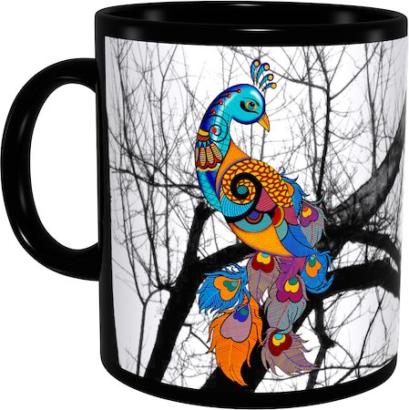 Kolorobia Turquoise Beauty Classic Black Mug
