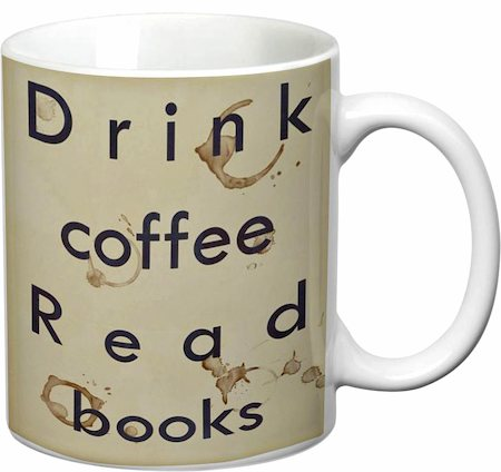 Prithish Drink Coffee Read Books White Mug