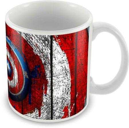 Marvel Captain America Plain Logo Ceramic Mug