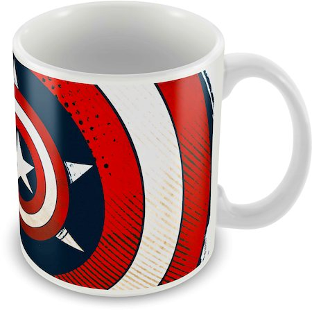 Marvel Captain America Star Ceramic Mug