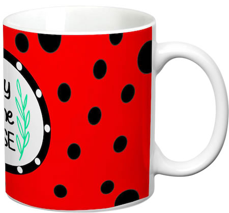 Prithish Lady Of The House Red White Mug