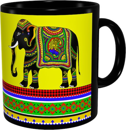 Kolorobia Jeweled Elephant Classic Black Mug