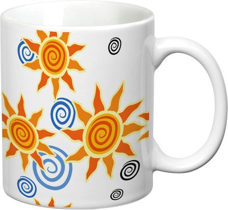 Prithish Abstract Design 33 White Mug