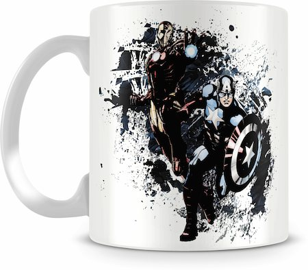 Marvel Captain America - Iron Man Ceramic Mug
