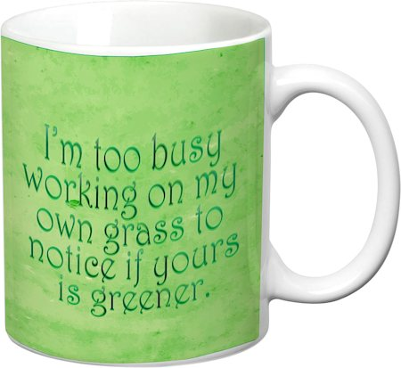 Prithish Working On My Own Grass White Mug