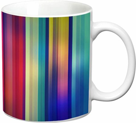 Prithish Abstract Design 45 White Mug