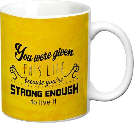 Prithish You Were Given This Life White Mug