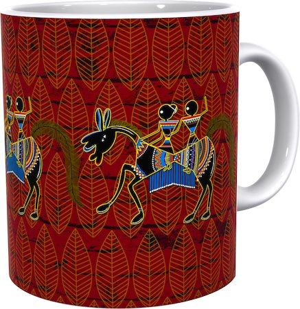 Kolorobia Graceful Warli Horse Classic White Mug