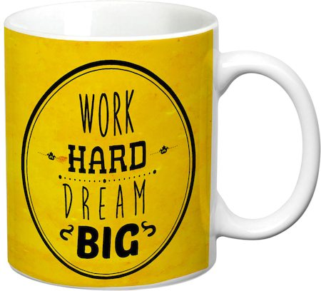 Prithish Work Hard. Dream Big White Mug