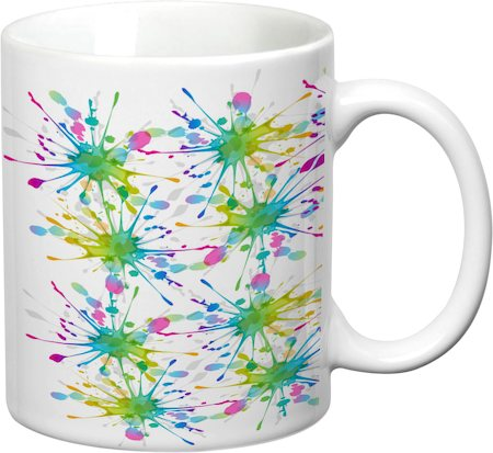 Prithish Colour Splash Design 1 White Mug