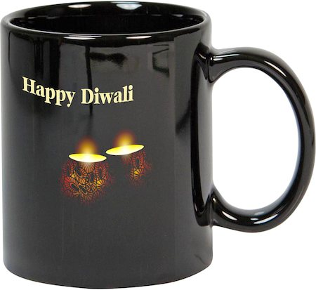 Prithish Diwali Design 3 Black Mug