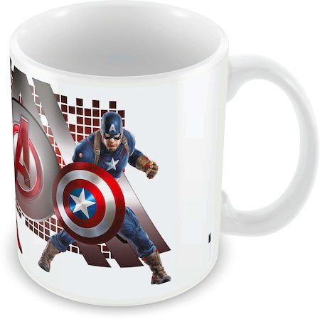 Marvel Iron Man & Captain America Ceramic Mug