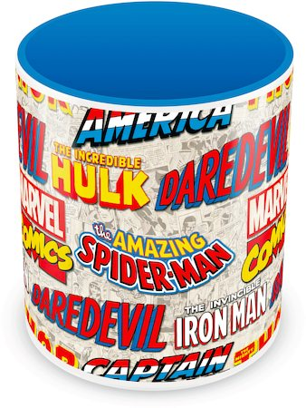 Marvel Comics All Logos Ceramic Mug