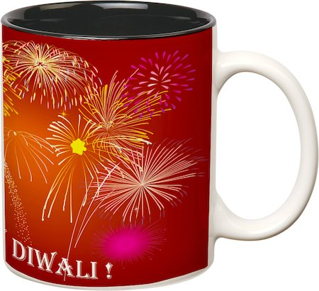 Prithish Diwali Design 6 Double Color Mug