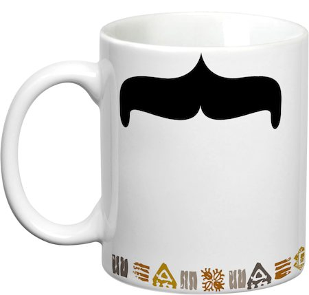 Prithish Mr Curve Mooch White Mug