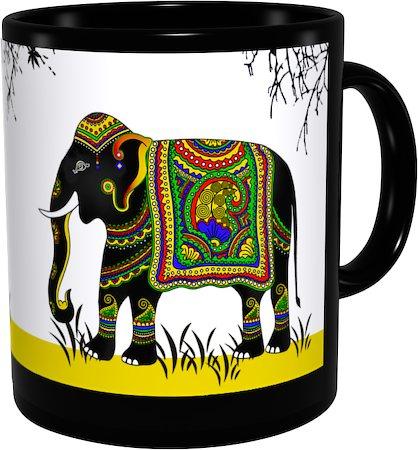 Kolorobia Charismatic Elephant Classic Black Mug