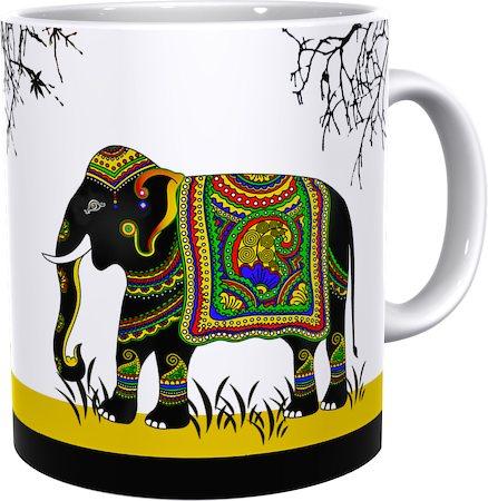 Kolorobia Yellow Royal Elephant Classic White Mug