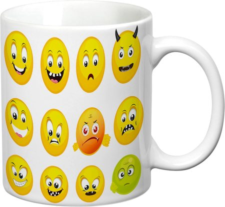 Prithish Smiley Expressions White Mug