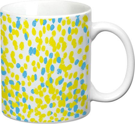 Prithish Abstract Design 24 White Mug